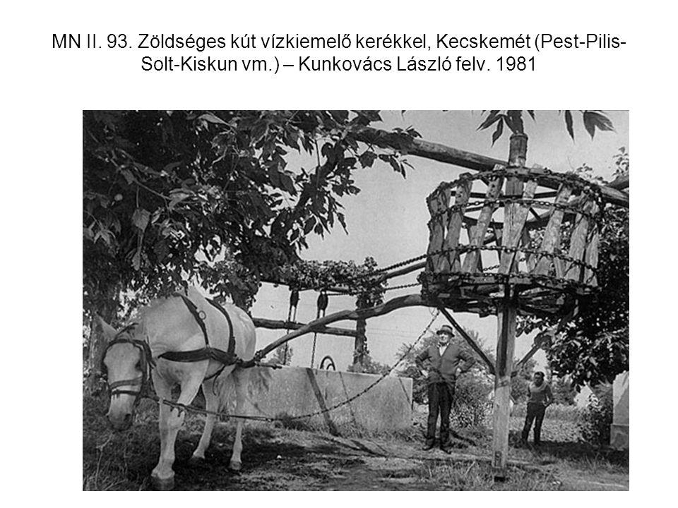 MN II. 93. Zöldséges kút vízkiemelő kerékkel, Kecskemét (Pest-Pilis- Solt-Kiskun vm.) – Kunkovács László felv. 1981