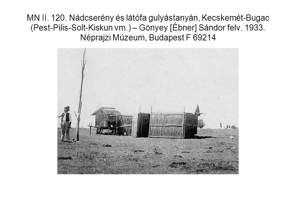 MN II. 120. Nádcserény és látófa gulyástanyán, Kecskemét-Bugac (Pest-Pilis-Solt-Kiskun vm.) – Gönyey [Ébner] Sándor felv. 1933. Néprajzi Múzeum, Budap