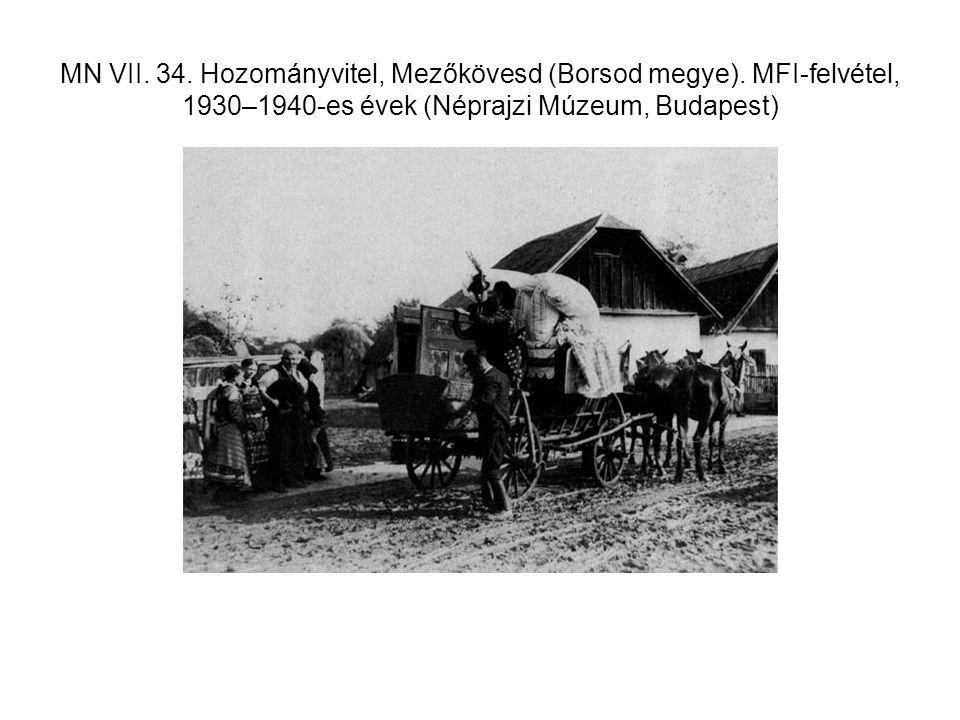 MN VII. 34. Hozományvitel, Mezőkövesd (Borsod megye). MFI-felvétel, 1930–1940-es évek (Néprajzi Múzeum, Budapest)