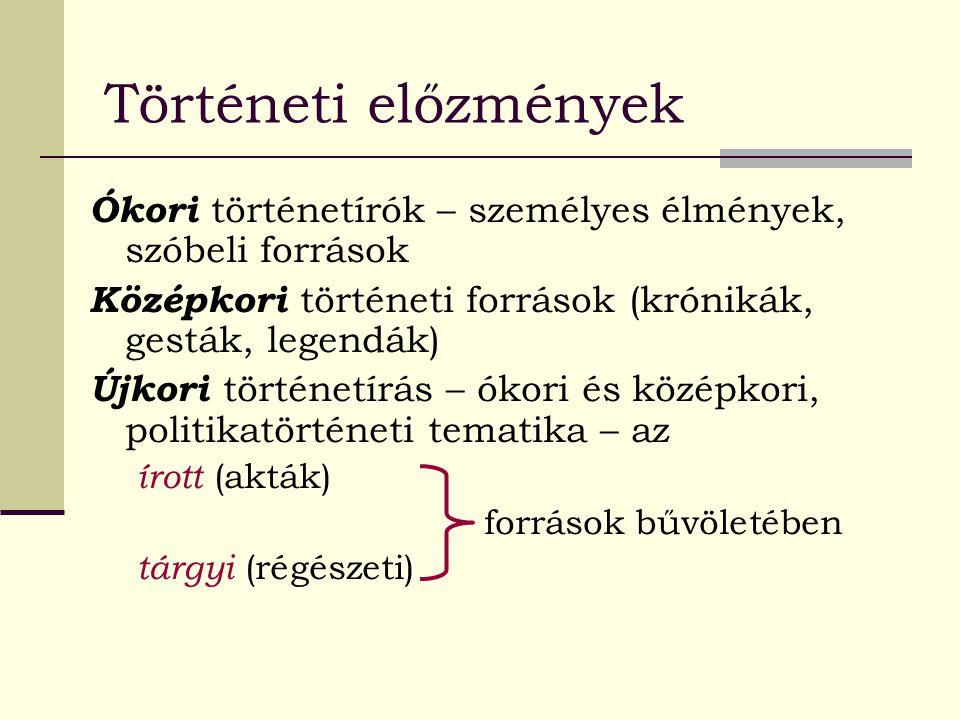 Irodalom Glatz Ferenc: A szóbeli források és kritikájuk.