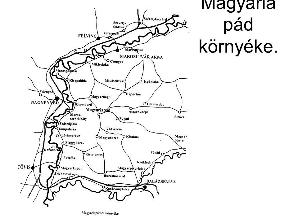 Magyarla pád környéke.