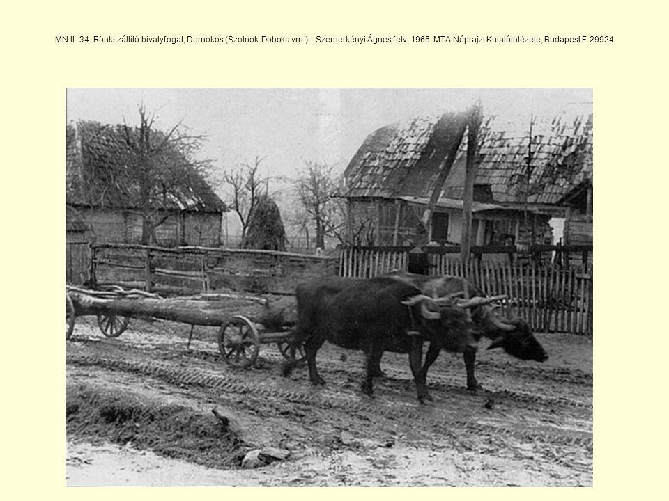 MN II.34. Rönkszállító bivalyfogat, Domokos (Szolnok-Doboka vm.) – Szemerkényi Ágnes felv.