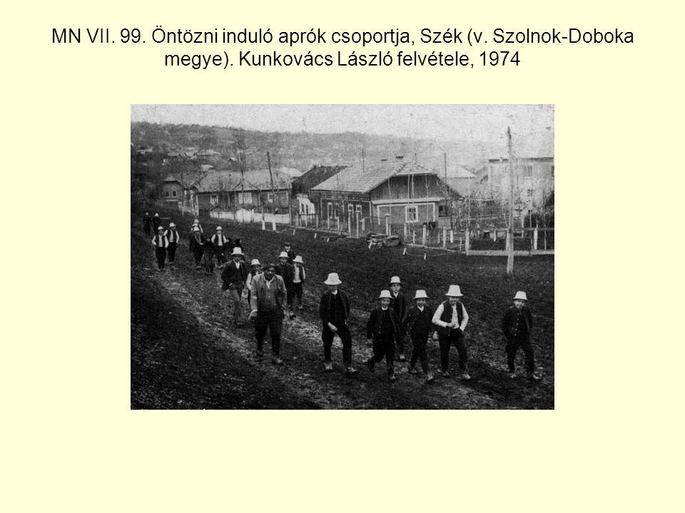 MN VII.99. Öntözni induló aprók csoportja, Szék (v.
