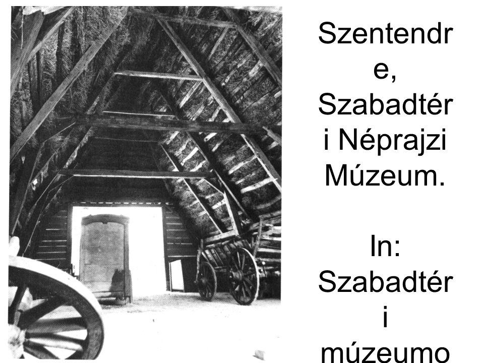 A tiszabecsi csűr belvilága.Szentendr e, Szabadtér i Néprajzi Múzeum.