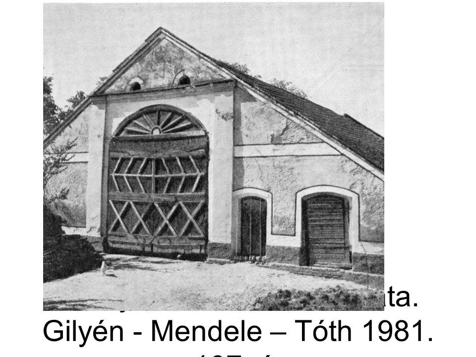 Vállaj, cifracsűr homlokzata. Gilyén - Mendele – Tóth 1981. 107. á.