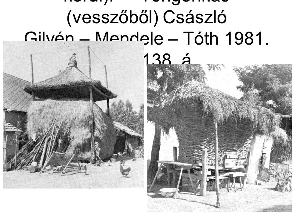Abara, Barabás (épült 1940 körül).-- Tengerikas (vesszőből) Császló Gilyén – Mendele – Tóth 1981.