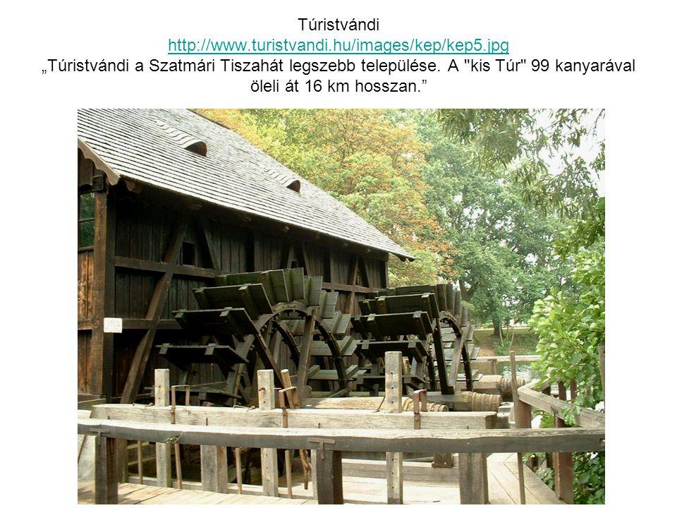 """Túristvándi http://www.turistvandi.hu/images/kep/kep5.jpg """"Túristvándi a Szatmári Tiszahát legszebb települése."""