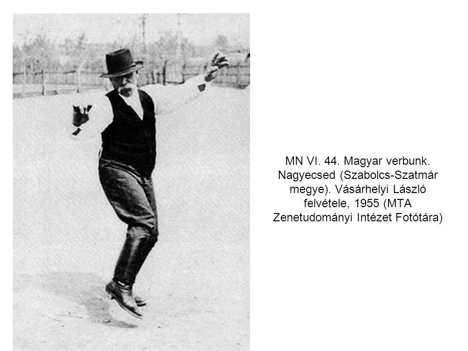 MN VI. 44. Magyar verbunk. Nagyecsed (Szabolcs-Szatmár megye). Vásárhelyi László felvétele, 1955 (MTA Zenetudományi Intézet Fotótára)