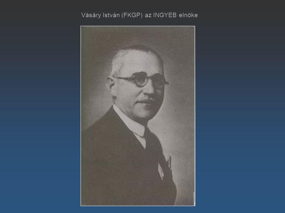 Vásáry István (FKGP) az INGYEB elnöke