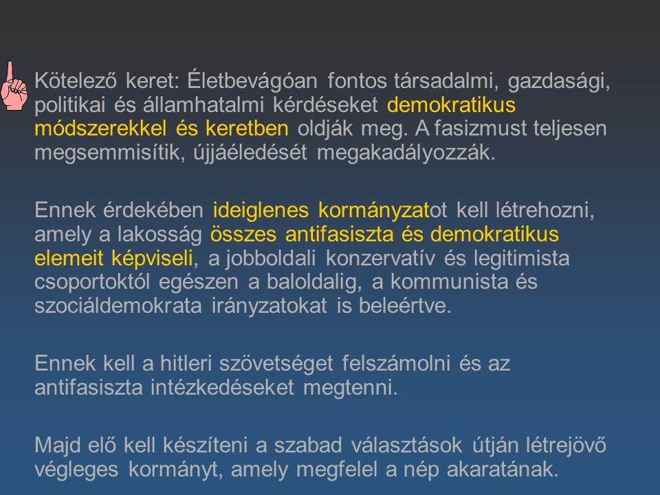 Nyilatkozat a felszabadított Európáról (Jaltai értekezlet 1945.