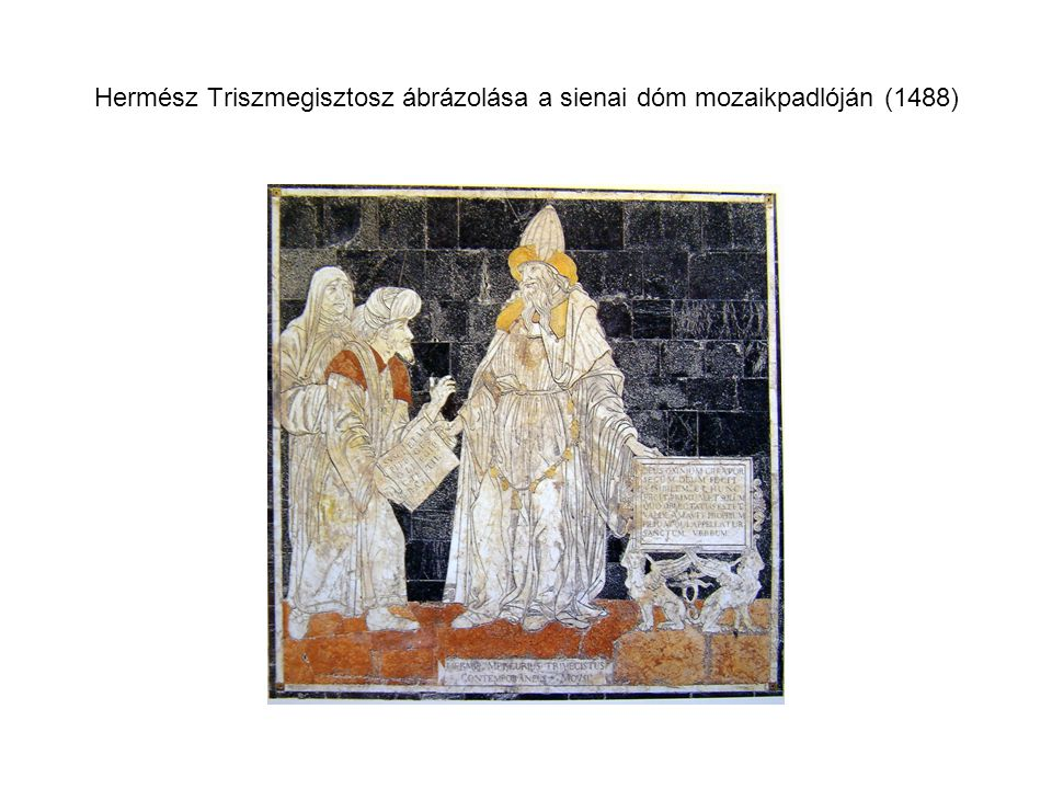 Hermész Triszmegisztosz ábrázolása a sienai dóm mozaikpadlóján (1488)