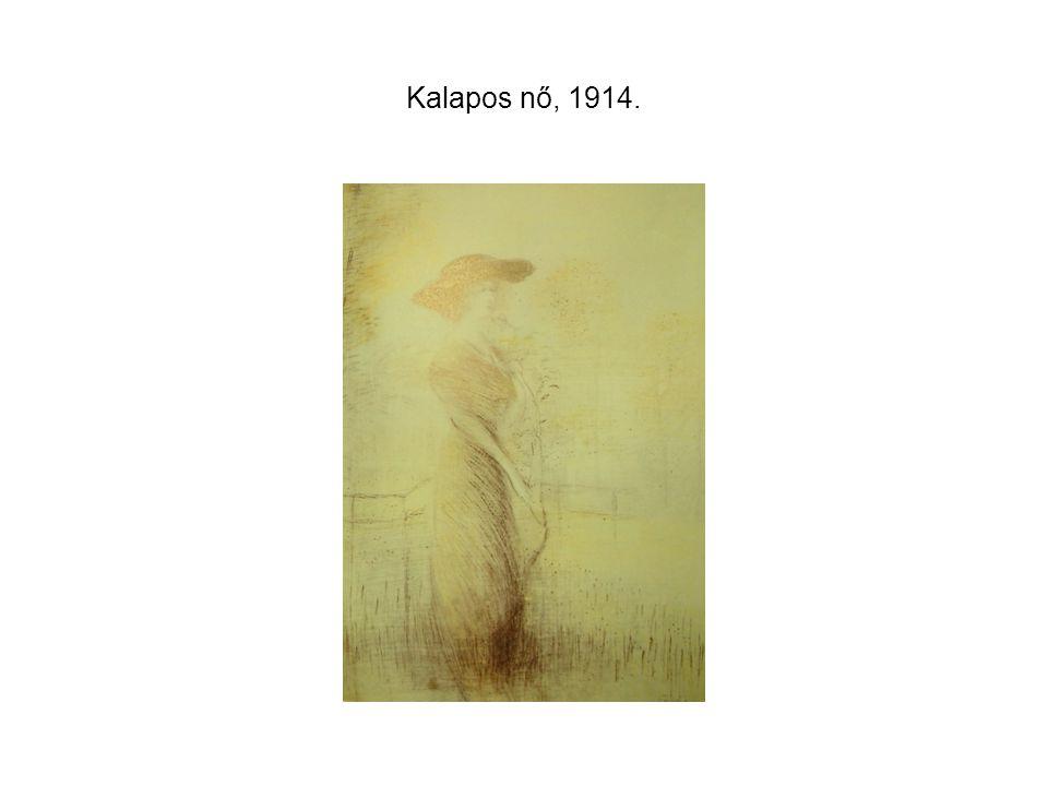 Kalapos nő, 1914.