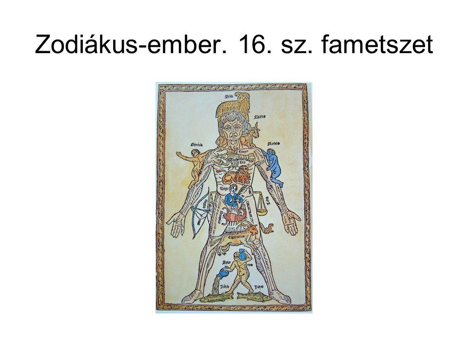 Zodiákus-ember. 16. sz. fametszet