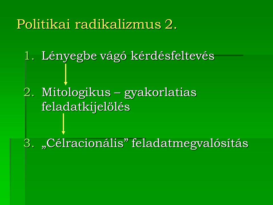 Politikai radikalizmus 2.
