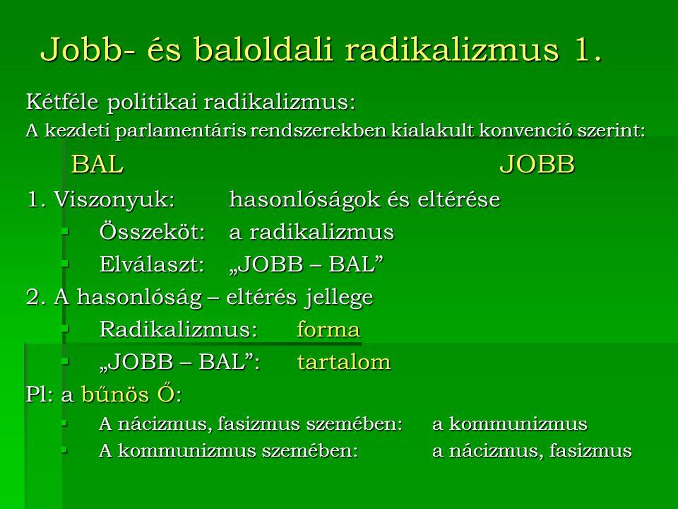 Jobb- és baloldali radikalizmus 1.