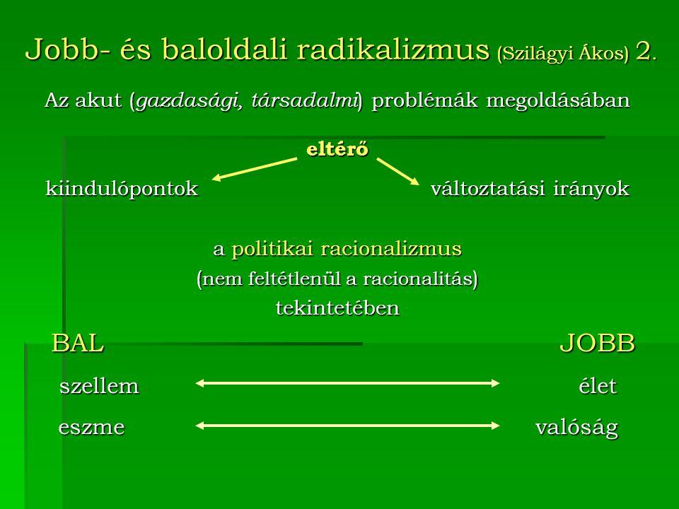 Jobb- és baloldali radikalizmus (Szilágyi Ákos) 2.