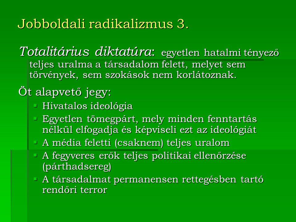 Jobboldali radikalizmus 3.