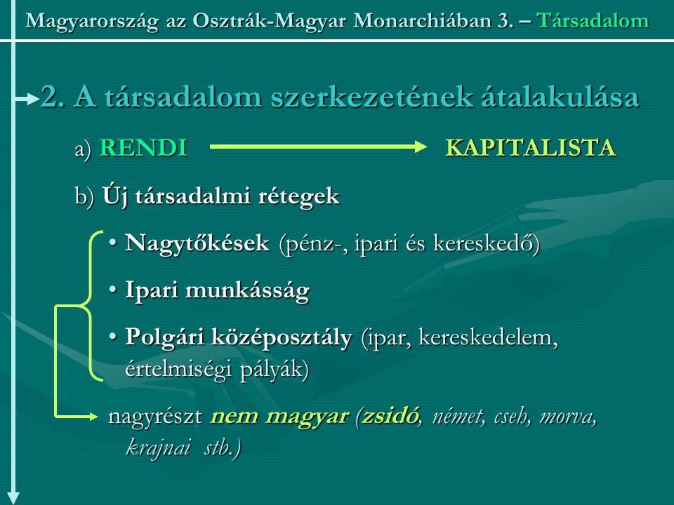Magyarország az Osztrák-Magyar Monarchiában 3.– Társadalom 2.