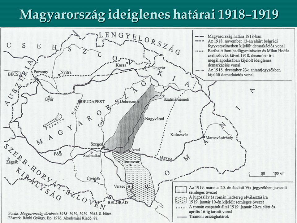 Magyarország ideiglenes határai 1918–1919