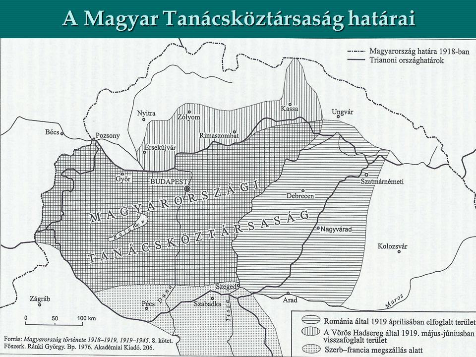 A Magyar Tanácsköztársaság határai