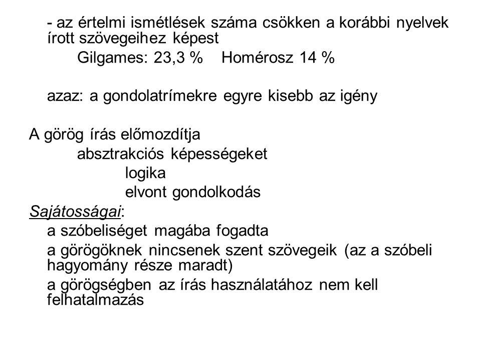 Antik görög tudásátörökítés (i.e. XIII-IV.