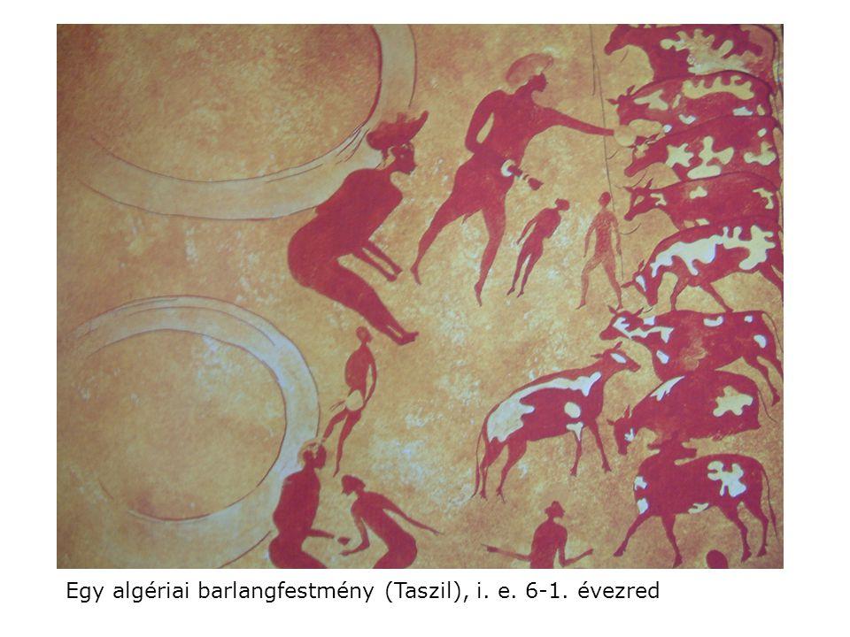 Egy algériai barlangfestmény (Taszil), i. e. 6-1. évezred