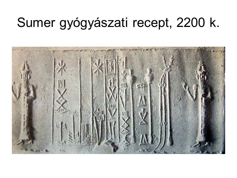 Sumer gyógyászati recept, 2200 k.