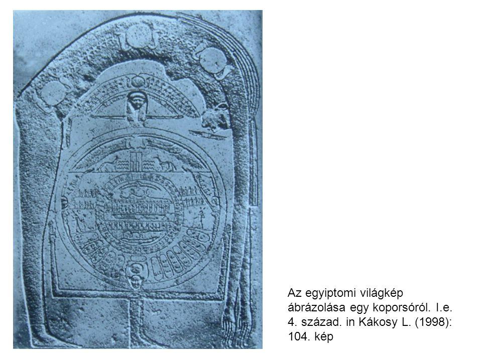 Az egyiptomi világkép ábrázolása egy koporsóról. I.e. 4. század. in Kákosy L. (1998): 104. kép