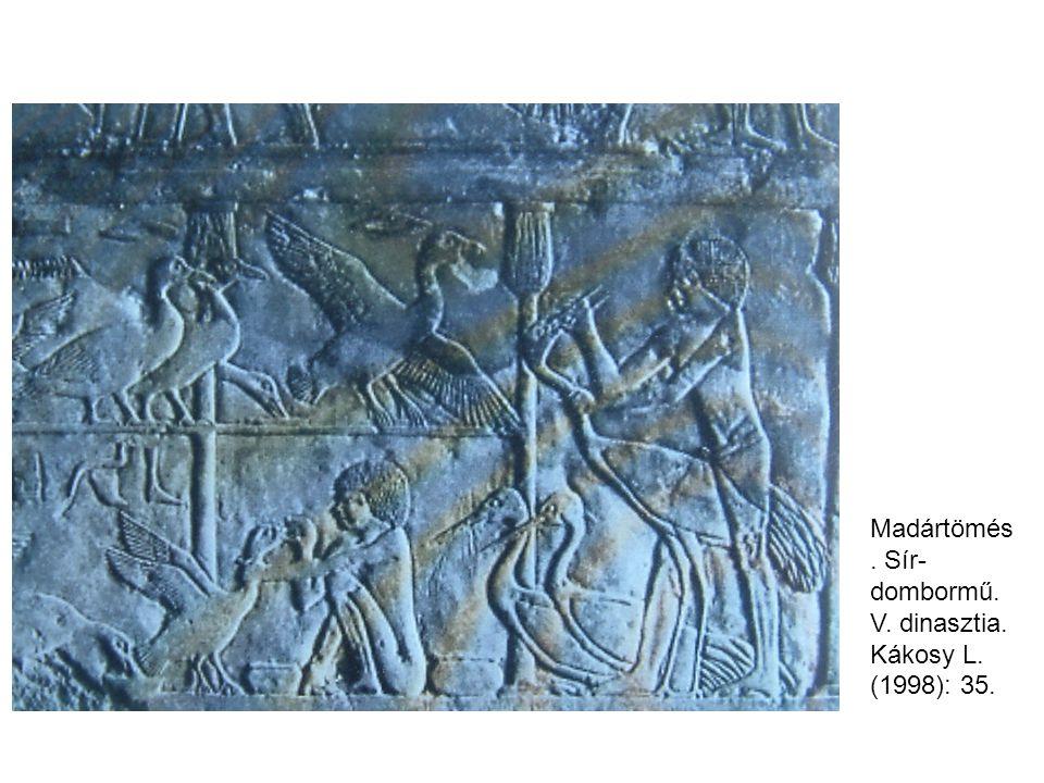Madártömés. Sír- dombormű. V. dinasztia. Kákosy L. (1998): 35.