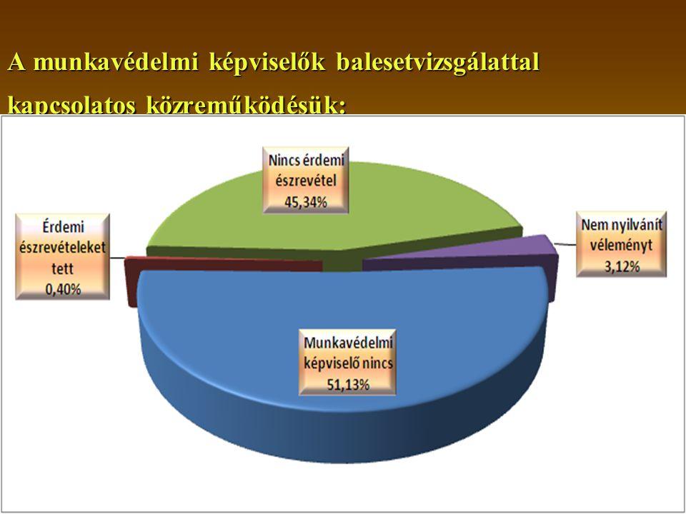 2014. 08. 02.14 A munkavédelmi képviselők balesetvizsgálattal kapcsolatos közreműködésük: