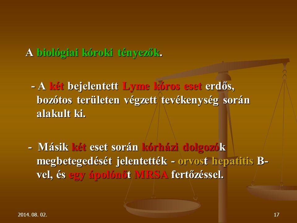 2014. 08. 02.17 A biológiai kóroki tényezők.