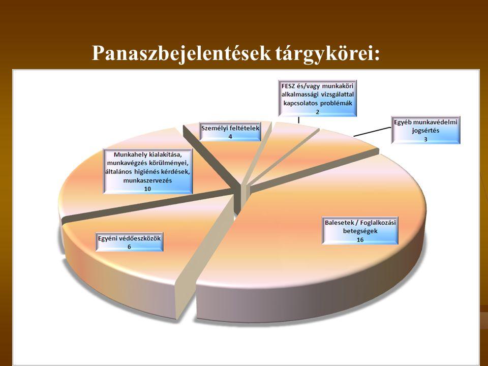 2014. 08. 02.30 Panaszbejelentések tárgykörei:
