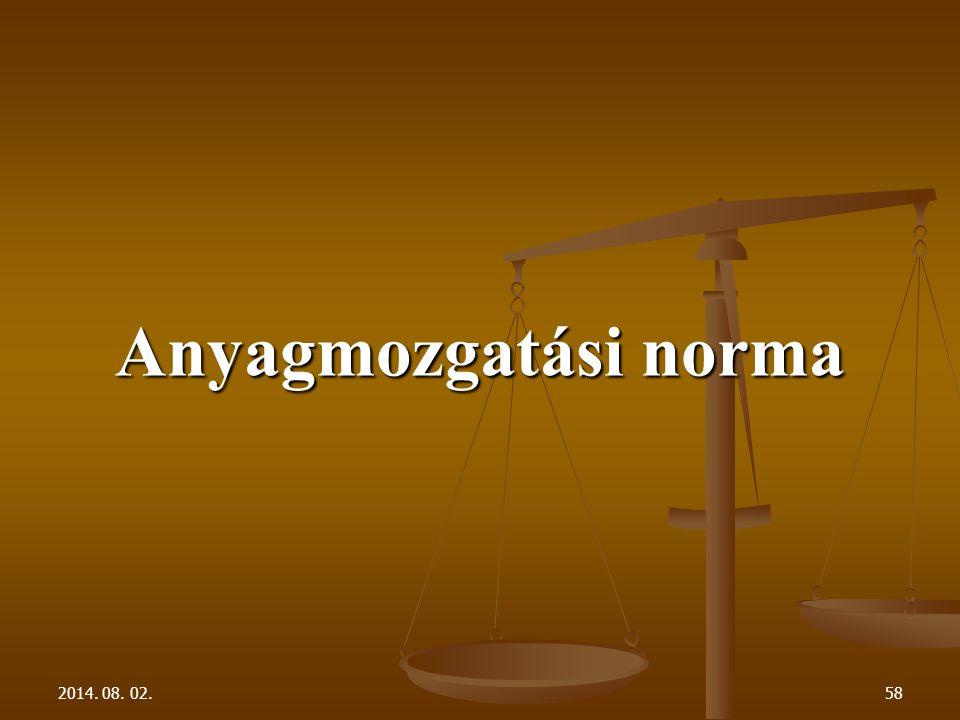 2014. 08. 02.58 Anyagmozgatási norma