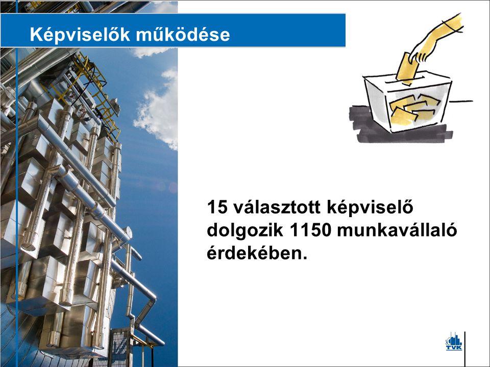 Képviselők működése A TVK-nál nincs munkavédelmi szabályzat, van viszont a működés minden területét felölelő szabályrendszer.