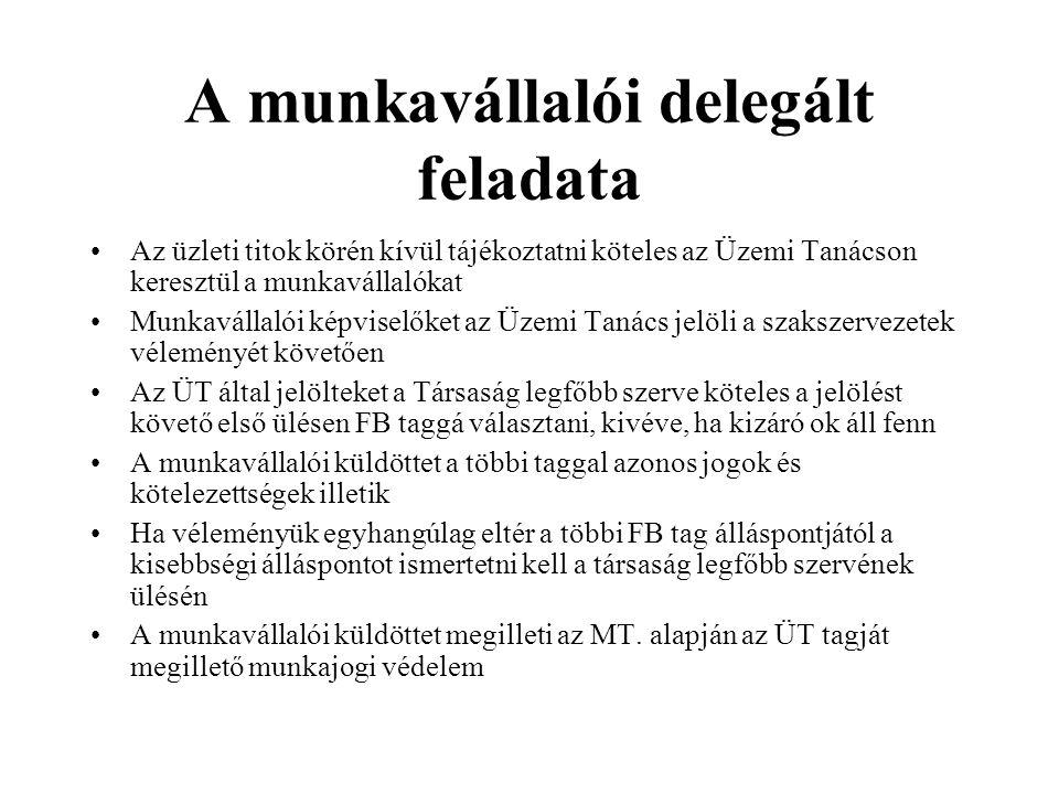 Az MNV Zrt.ellenőrzési rendszere A Tanács és az MNV Zrt.