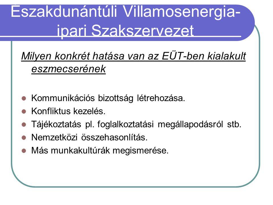 Milyen konkrét hatása van az EÜT-ben kialakult eszmecserének Kommunikációs bizottság létrehozása.