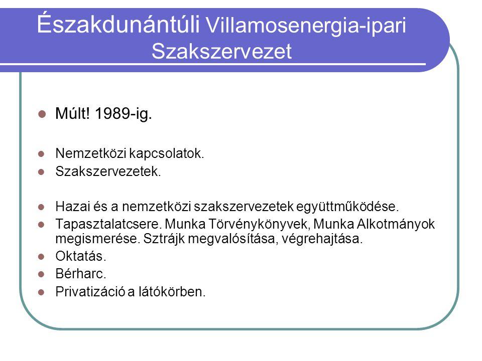 Múlt. 1989-ig. Nemzetközi kapcsolatok. Szakszervezetek.