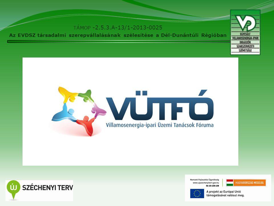 2 TÁMOP -2.5.3.A-13/1-2013-0025 Az EVDSZ társadalmi szerepvállalásának szélesítése a Dél-Dunántúli Régióban