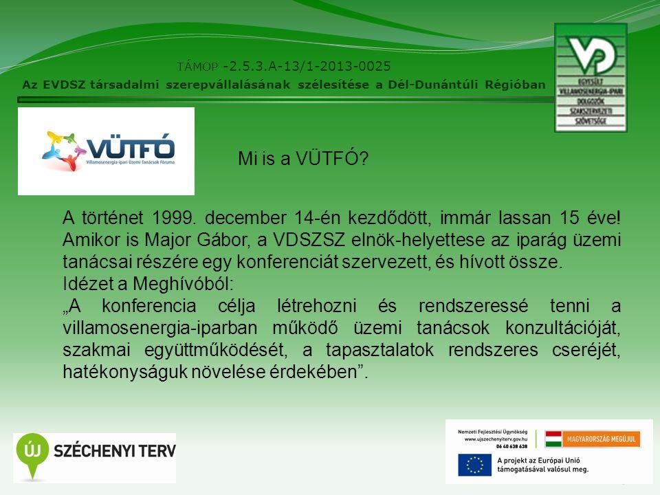 3 TÁMOP -2.5.3.A-13/1-2013-0025 Az EVDSZ társadalmi szerepvállalásának szélesítése a Dél-Dunántúli Régióban A történet 1999.