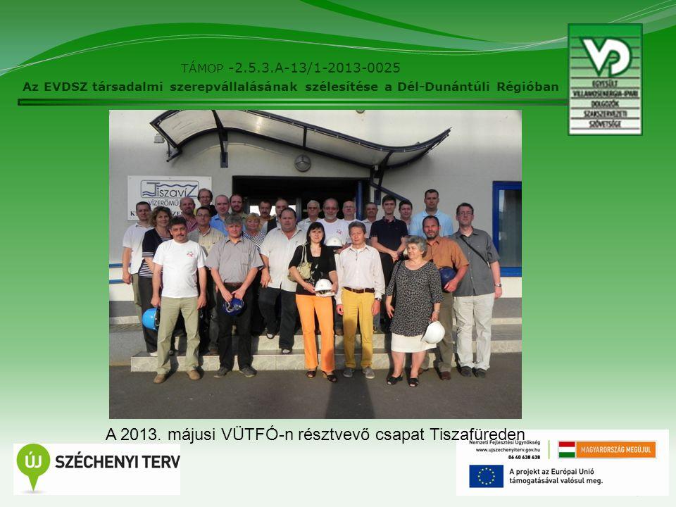 9 TÁMOP -2.5.3.A-13/1-2013-0025 Az EVDSZ társadalmi szerepvállalásának szélesítése a Dél-Dunántúli Régióban A 2013.