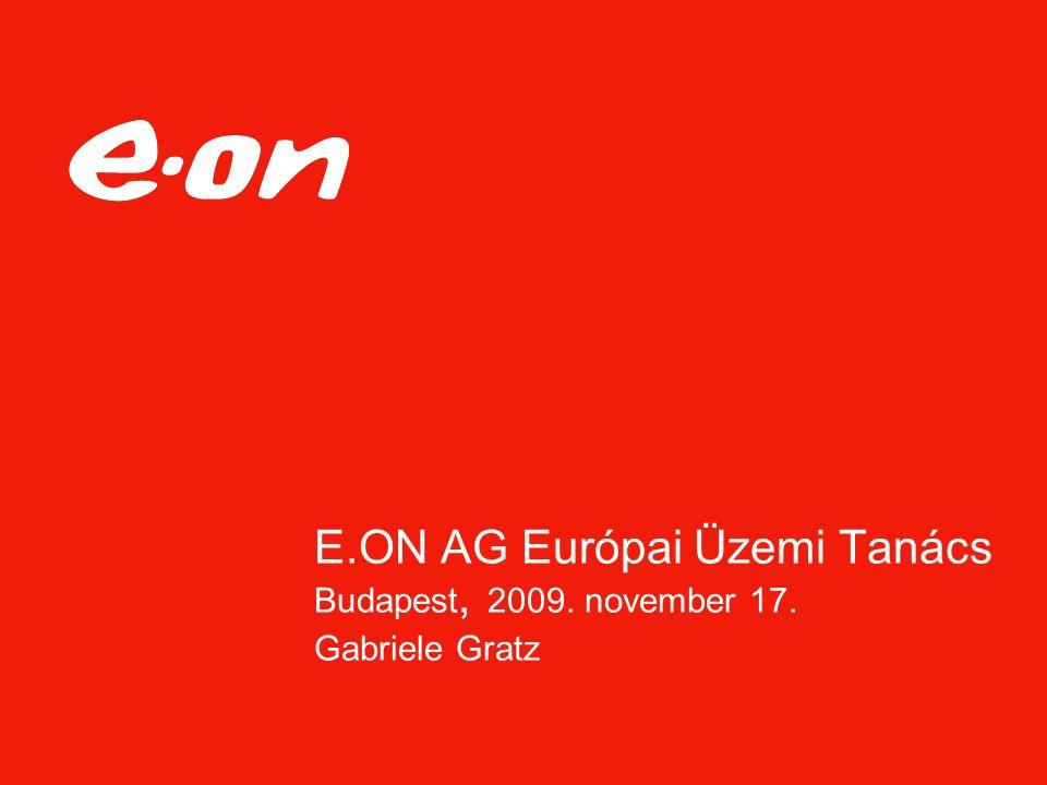 E.ON AG Európai Üzemi Tanács Budapest, 2009. november 17. Gabriele Gratz