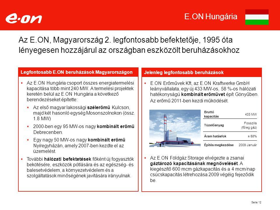 Seite 12 Az E.ON, Magyarország 2.