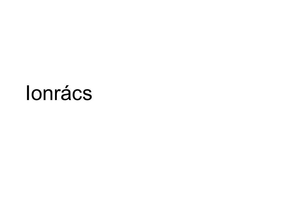 Összetartó erő: Elsődleges (ionos) kötés Rácspontokon: ionok Magas olvadáspont Szilárdan szigetelő Olvadékban, oldatban vezető