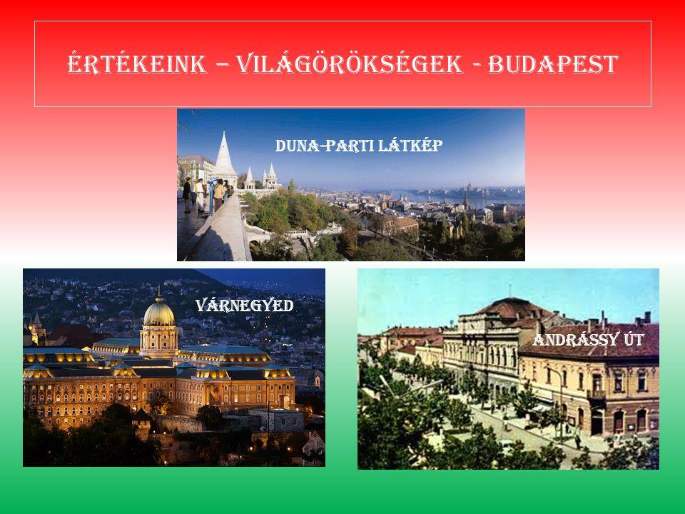 Értékeink – világörökségek - Budapest Duna-parti látkép Várnegyed Andrássy út