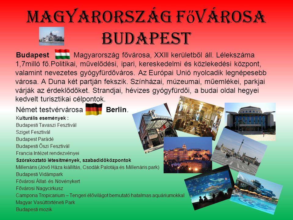 Magyarország f ő városa budapest Budapest Magyarország fővárosa, XXlll kerületből áll.