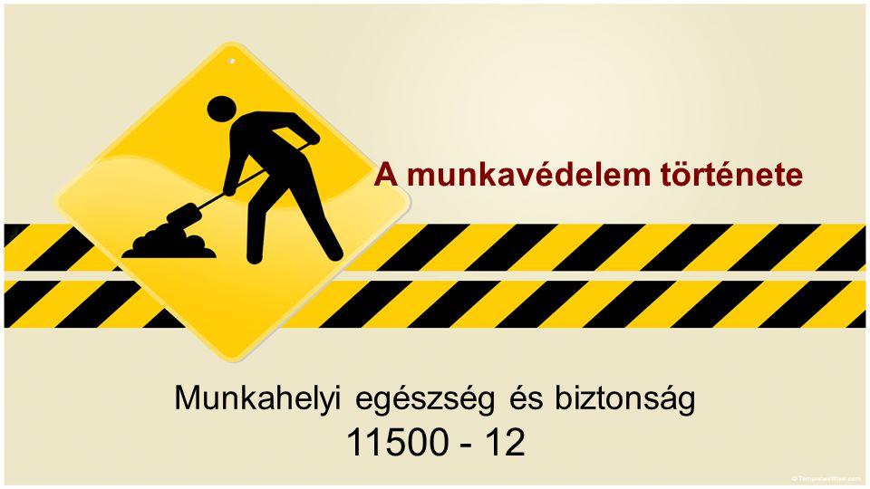 Munkahelyi egészség és biztonság 11500 - 12 A munkavédelem története