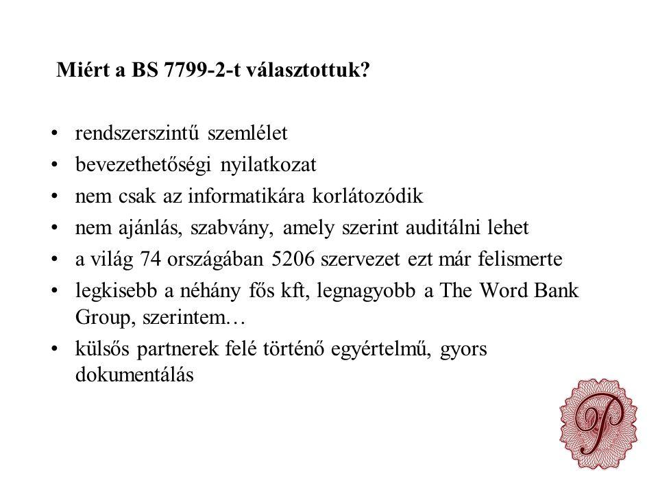 Miért a BS 7799-2-t választottuk.
