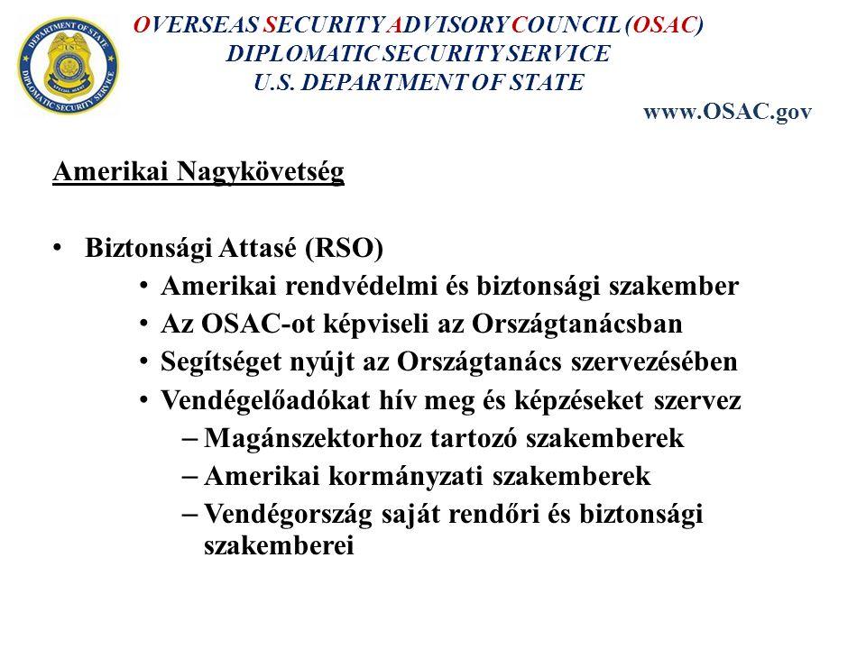 OVERSEAS SECURITY ADVISORY COUNCIL (OSAC) DIPLOMATIC SECURITY SERVICE U.S.