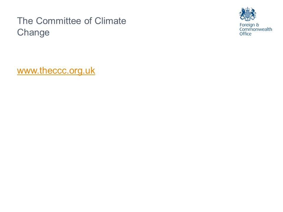 The Committee of Climate Change www.theccc.org.uk