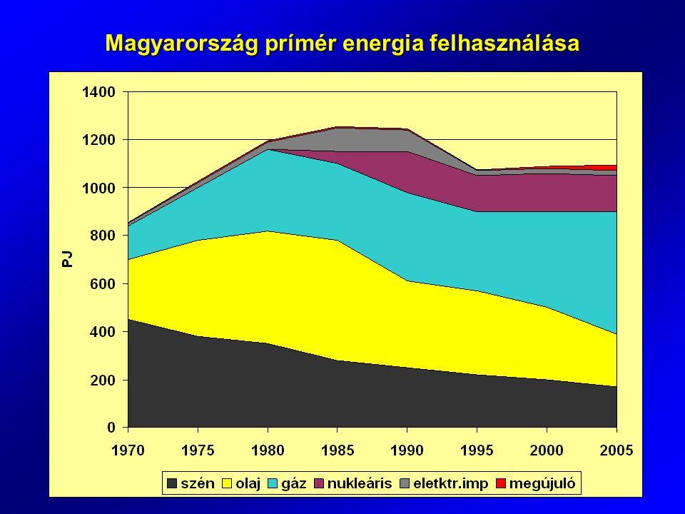 Alternatív erergiaforrások potenciális részesedése (KvVM-MTA 2009)